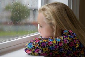 looking out at the rain