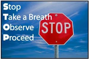 stop take a breath